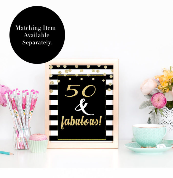 50 Fabulous Birthday Party Printables for Turning 50 - VCDiy