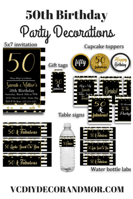 50th Birthday Decorations for A 50 and Fabulous Birthday - VCDiy