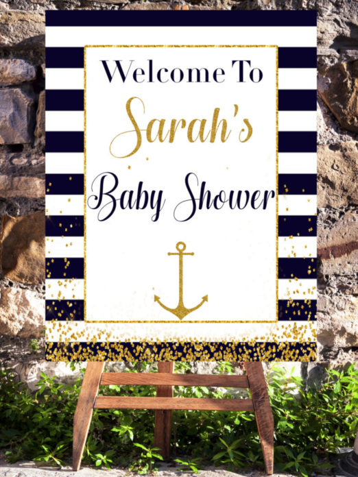 Nautical Theme Baby Shower Welcome Sign Vcdiy