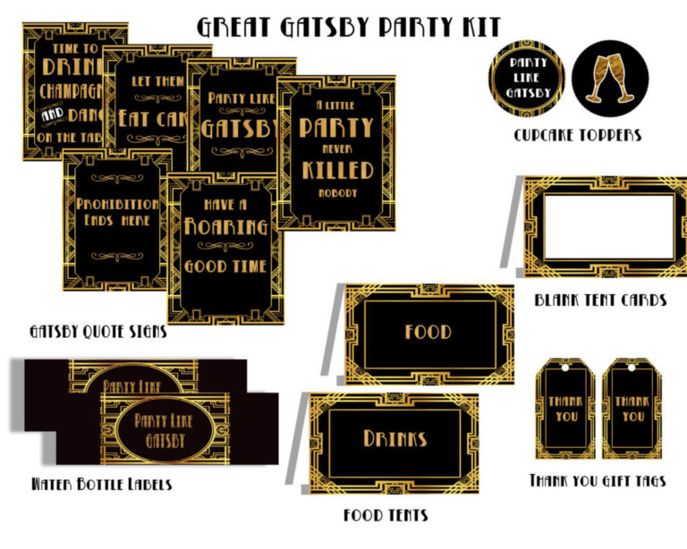 Great Gatsby Party Decorations Kit for An Art Deco Party