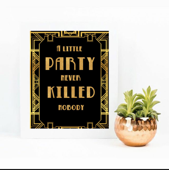 great gatsby wedding sign for a 1920s party vcdiy