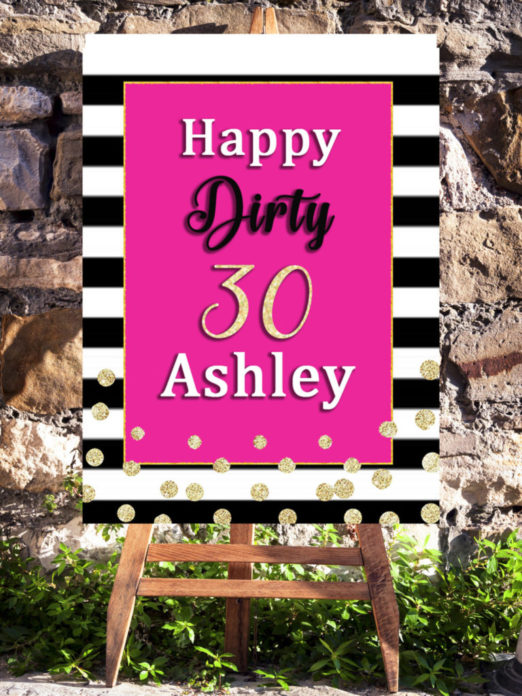 30th Birthday Party Decorations Printable For Women Turning 30