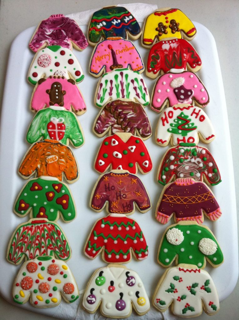 ugly christmas sweater party ideas holiday cookies