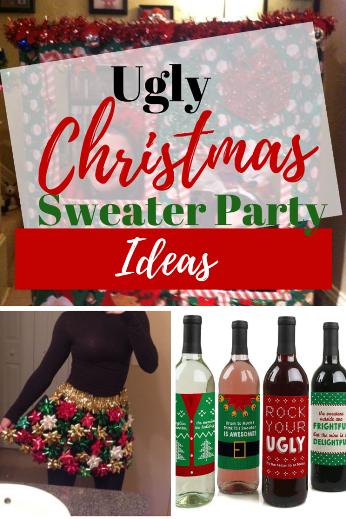 Ugly christmas sweater party decorations ideas for a diy holiday party. Ideas for kids and