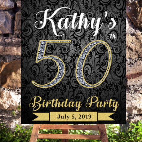50th birthday party decoration- printables for women turning 50. 85a6eace4