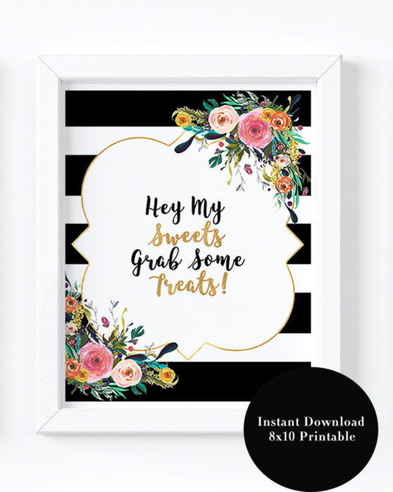 black and white bridal shower decorations printable floral bridal shower theme for a floral wedding