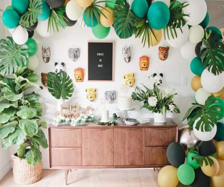 Jungle baby shower theme decorations gender neutral vcdiy - Deco table jungle ...