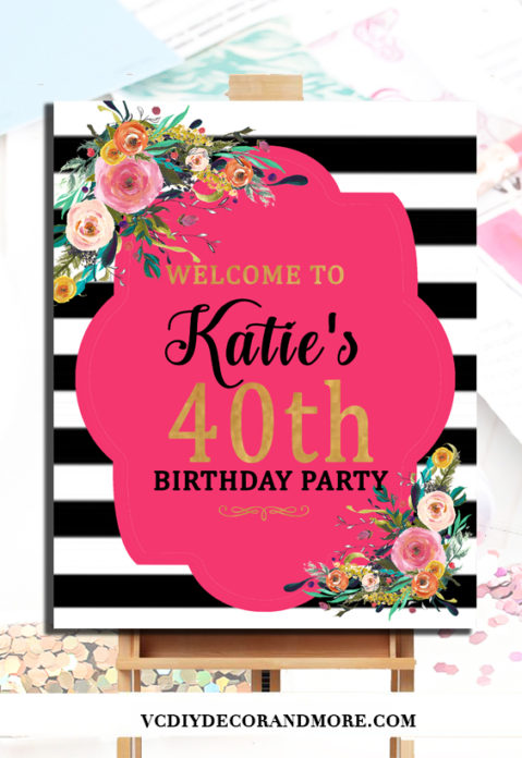 40th Birthday Party Decorations Ideas For Women Turning 40 Diy Welcome Poster