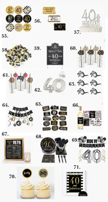 Black And White Birthday Party Decorations For Adults 40th Women