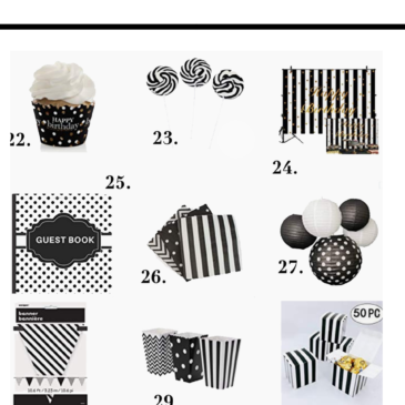 Black And White Birthday Party Decorations Ideas For Adults