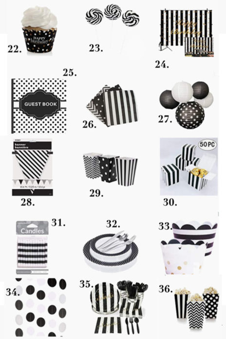 Black And White Birthday Party Decorations Ideas For Adults Vcdiy