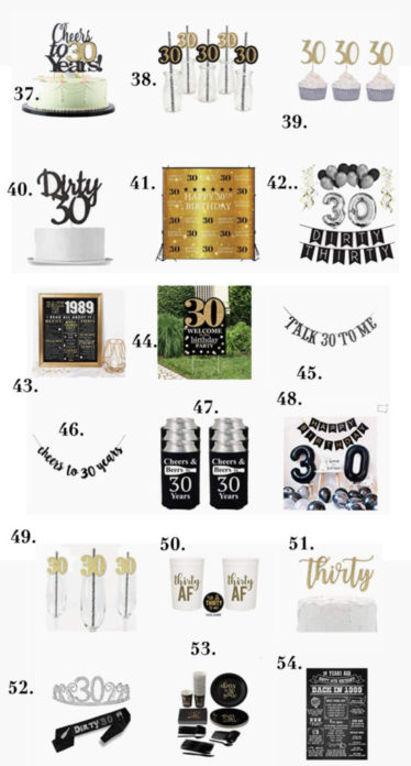 Celebrate Turning 30 In Style With Fabulous Black And White 30th Birthday Party Decorations For Adults From Balloons To Backdrops Find Ideas Throw The
