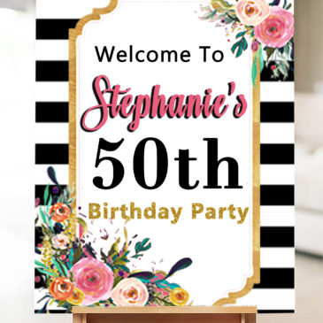 50th Birthday Ideas For Women Turning 50 Welcome Sign
