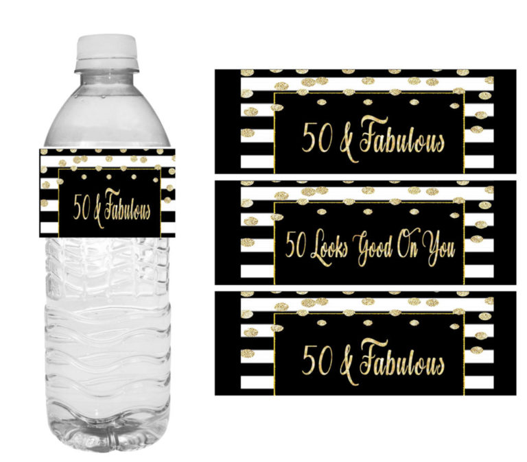 50th And Fab: 40th Birthday Party Decorations Set In Black & Red