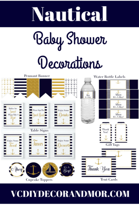 Nautical Decor Babyshower Archives Vcdiy And More