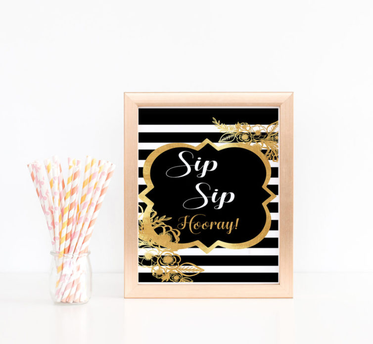 photo about Sip Sip Hooray Printable identify Sip Sip Hooray Printable Bridal Shower Indicator