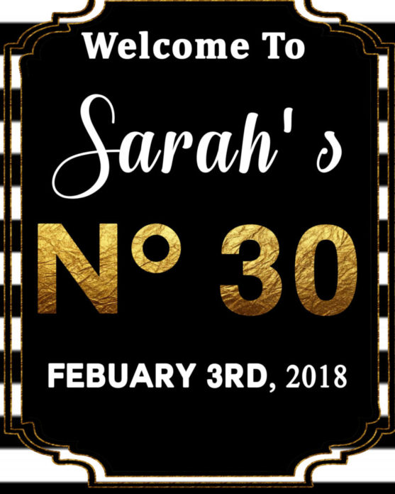 photo regarding Printable Welcome Sign identified as Black and White Bridal Shower Welcome Signal For A Chanel Bridal Shower
