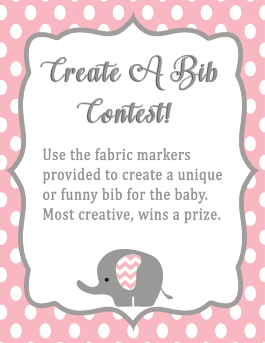 picture about Baby Shower Banner Printable called Lady Elephant Child Shower Decorations- Printable Youngster Shower Activity