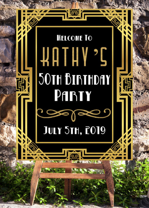 Awe Inspiring 50Th Birthday Ideas For Women Turning 50 Welcome Sign Home Interior And Landscaping Ponolsignezvosmurscom