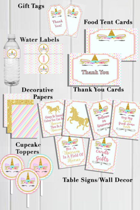 photo about Printable Party Games for Adults named Unicorn Birthday Celebration Suggestions Do-it-yourself Printable Bash Decorations