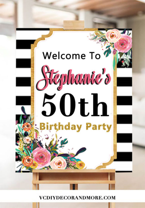 50th Birthday Ideas For Women Turning 50 50th Welcome Sign